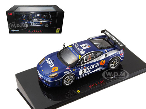 Ferrari F430 GTC #8 Blue Elite Edition 1/43 Diecast Model Car Hotwheels P9952