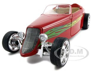 1933 Ford Roadster Red 1/18 Diecast Car Road Signature 92838