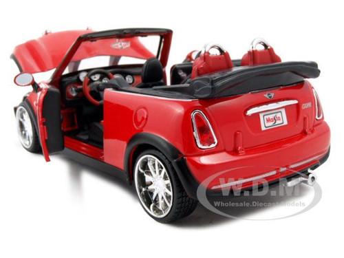 mini cooper convertible red 1 24 custom diecast model car. Black Bedroom Furniture Sets. Home Design Ideas