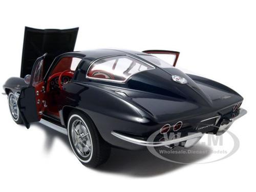 1963 corvette sting ray split window blue 1 18 diecast for 1963 split window corvette ebay