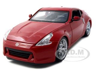 2009 Nissan 370Z Red 1/24 Diecast Model Car Maisto 31200
