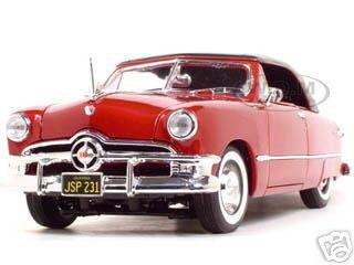 1950 Ford Soft Top Red 1/18 Diecast Model Car Maisto 31681