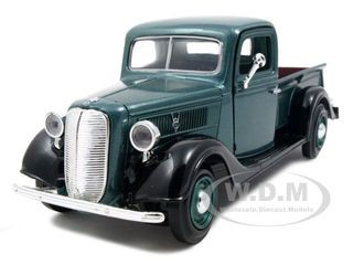 1937 Ford Pickup Truck Green 1/24 Diecast Car Model Motormax 73233
