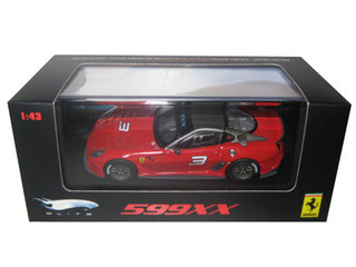 Ferrari 599XX #3 Red Elite Edition 1/43 Diecast Car Model Hotwheels T6263