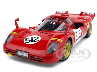 "Ferrari 512 S Nick Mason of ""Pink Floyd"" Elite Edition #512 1/18 Diecast Car Model Hotwheels T6253"