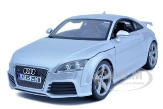 Audi TT RS Silver 1/18 Diecast Car Model Bburago 11031