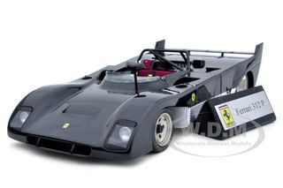 Ferrari 312 P 312P Prototype Black 1/18 Diecast Car Model GMP G1804109