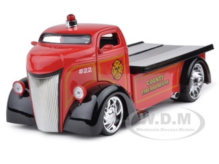 1947 Ford COE Fire Tow Truck 1/24 Diecast Model Car Jada 96284