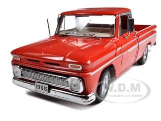 1965 Chevrolet C-10 Styleside Pickup Truck Red 1/18 Diecast Model Sunstar 1361