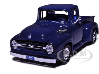 1956 Ford F-100 Pickup Blue 1/24 Diecast Model Car Motormax 73235