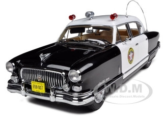1952 Nash Ambassador Police Car Kenosha County Sheriff 1/18 Diecast Car Model Sunstar 5115