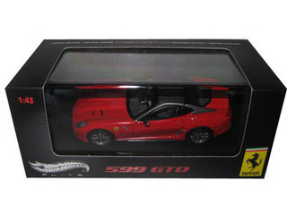 Ferrari 599 GTO Red With Grey Roof Elite Edition 1/43 Diecast Car Model Hotwheels T6267