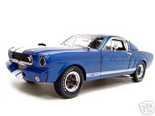 1966 Shelby Mustang GT 350R Blue 1/18 Diecast Model Car Shelby Collectibles 00121