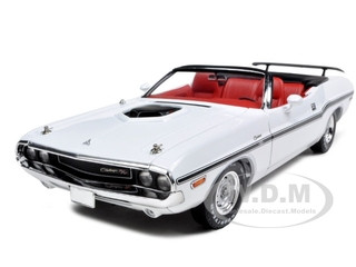 1970 Dodge Challenger R/T Convertible White 1/18 Diecast Car Model Greenlight 12819