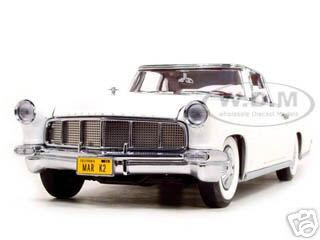 1956 Lincoln Continental Mark II White 1/18 Diecast Model Car Road Signature 20078