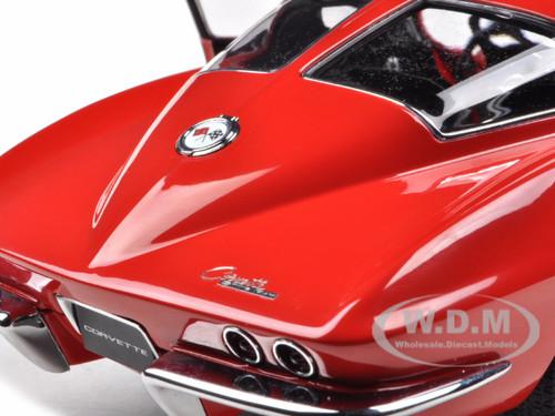 1963 corvette sting ray split window red 1 18 diecast for 1963 split window corvette ebay