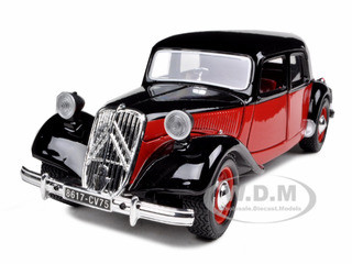 1938 Citroen 15 CV TA Black/Red 1/24 Diecast Car Model Bburago 22017