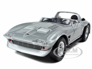 "1964 Dom's Chevrolet Corvette Grand Sport Silver From Movie ""Fast Five"" Fast & Furious 1/18 Diecast Model Car Greenlight 12842"
