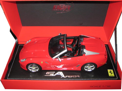 Ferrari 599 Roadster SA Aperta Racing Red #322 Limited to 310pc 1/18 Model Car BBR 1815 DIS