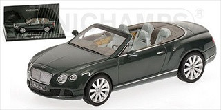2011 Bentley Continental GTC Green 1/43 Diecast Model Car Minichamps 436139060