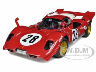 Ferrari 512 S #28 24hr of Daytona 1970 Elite Edition 1/18 Diecast Car Model Hotwheels N2047