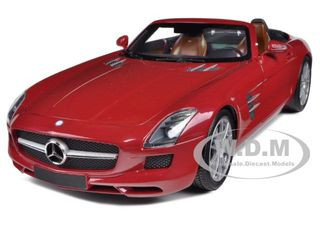 2011 Mercedes SLS AMG Roadster Red 1/18 Diecast Model Car Minichamps 100039030