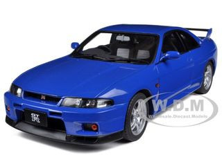 Nissan Skyline GT-R (R33) Champion Blue 1/18 Diecast Car Model Autoart 77328