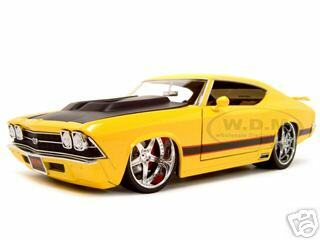 1969 Chevrolet Chevelle SS Diecast Model Yellow 1/18 Diecast Model Car Jada 90053