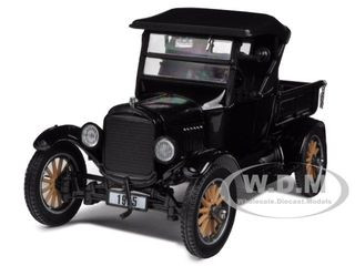 1925 Ford Model T Closed Convertible Pickup Truck Black 1/24 Diecast Model Car Sunstar 1860