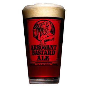 Stone Arrogant Bastard Pint Glass
