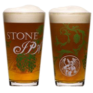Stone IPA Pint Glass