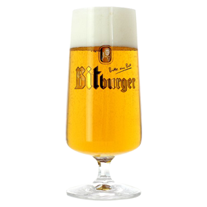 Bitburger Footed Pilsner Beer Glass