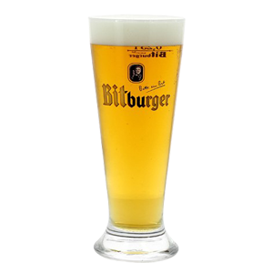 Bitburger Pilsner Beer Glass