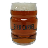 Beer Cartel Barrel Glass