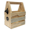 Wooden Beer Six Pack Caddy with Bottle Opener
