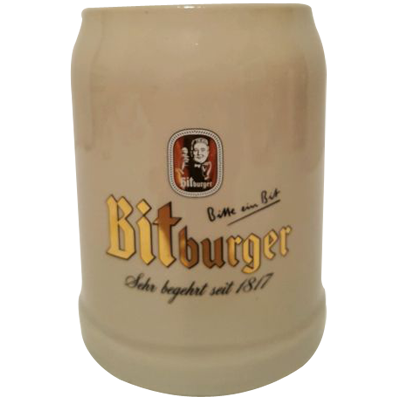 Bitburger Ceramic 500ml Beer Mug