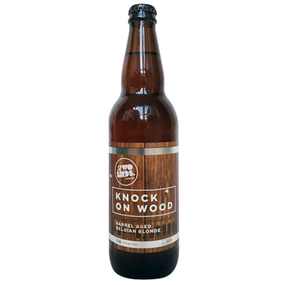 Two Birds Knock on Wood Barrel Aged Belgian Blonde