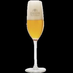 Deus Brut Des Flandres Stemmed Flute Beer Glass