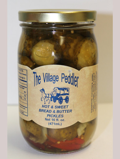 Hot and Sweet Bread and Butter Pickles