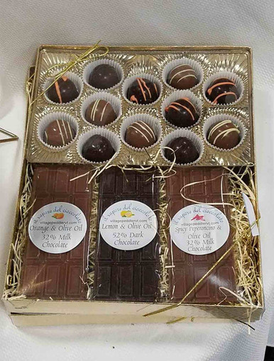 Olive Oil Chocolates Gift Box (Bars + Truffles)