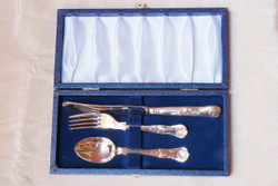 English Silver-plate King's Pattern Child Set