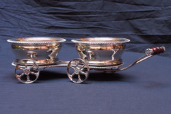 English Ribbon & Reed Pattern Silver-plate Wine Trolley
