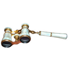 Antique French Mother of Pearl Opera Glasses. Colmont Co. Paris, Circa 1880