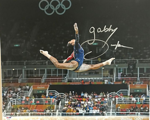 Gabby Douglas Olympics 16-4 Signed 16x20 Photo