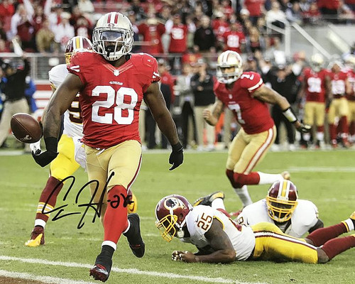 Carlos Hyde 49ers 16-2 Signed 16x20 Photo