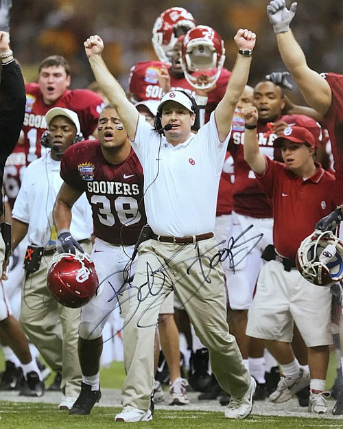 Bob Stoops Sooners 16-1 Signed 16x20 Photo