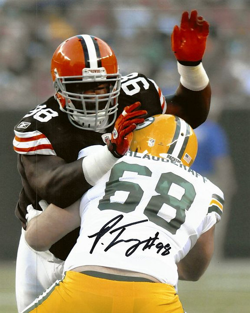 Phil Taylor Browns 8-2 Signed 8x10 Photo