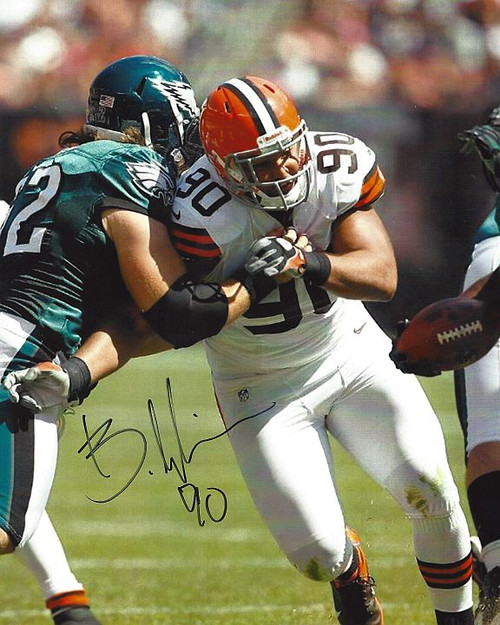 Billy Winn Browns 8-1 Signed 8x10 Photo