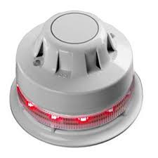55000-394 | Apollo AlarmSense Optical Smoke Detector with Sounder Beacon Base