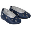 18 inch doll shoes - Navy Flats with Silver Stars